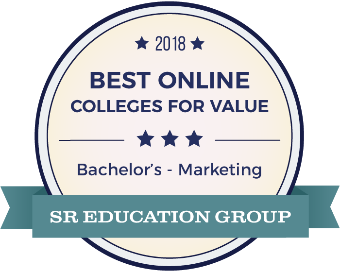 Marketing-Top Online Colleges-2018-Badge