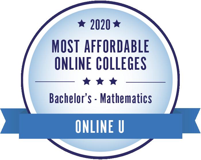 2020 Most Affordable Mathematics Bachelors Degrees Badge