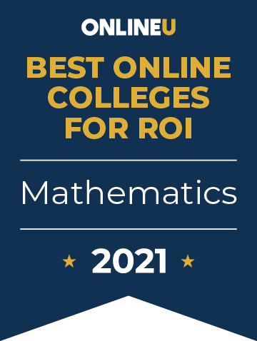 2021 Best Online Colleges Offering Bachelor's Degrees in Mathematics Badge