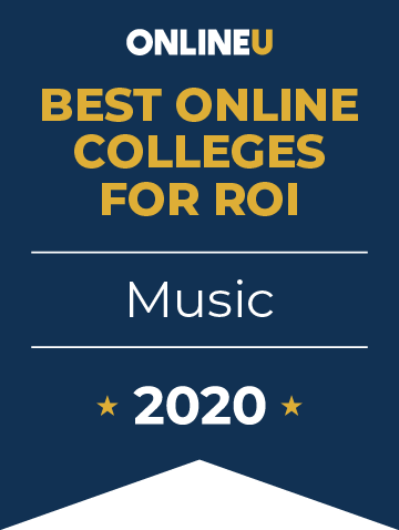2020 Best Online Colleges Offering Bachelor's in Music Badge