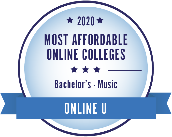 Music-Most Affordable Online Colleges-2019-Badge