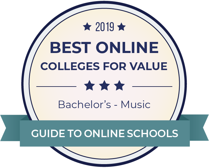 2019 Best Online Colleges Offering Bachelor's in Music Badge
