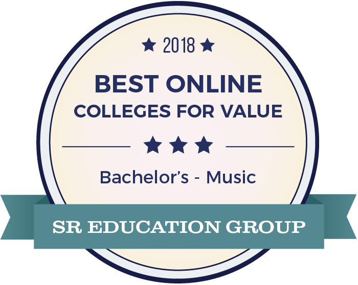 Music-Top Online Colleges-2018-Badge