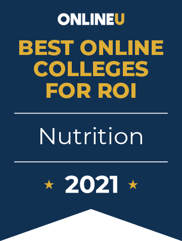 2021 Best Online Colleges Offering Bachelor's Degrees in Nutrition Badge