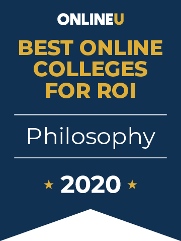 2020 Best Online Colleges Offering Bachelor's in Philosophy Badge