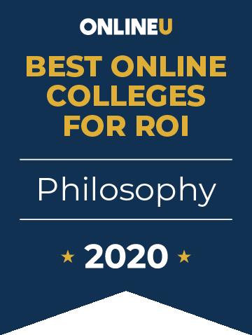 2020 Best Online Colleges Offering Bachelor's in Philosophy Badge