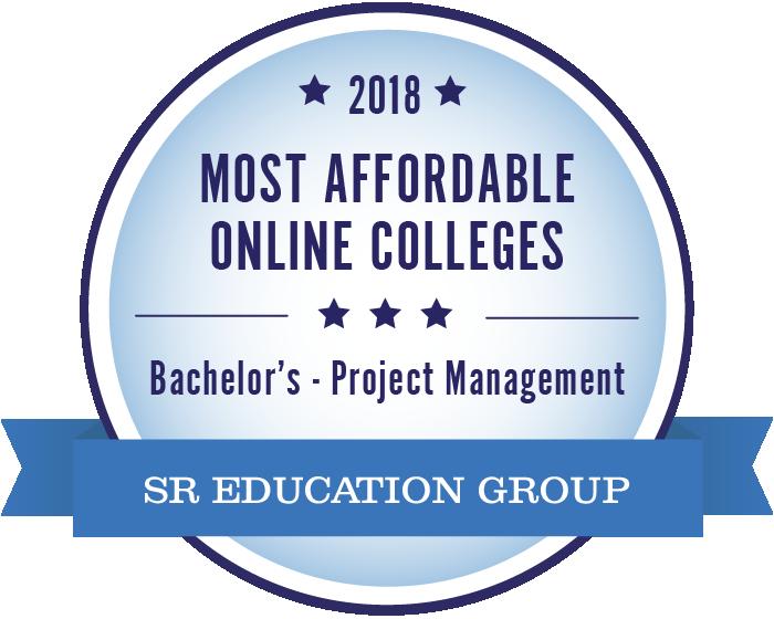 Project Management-Most Affordable Online Colleges-2018-Badge