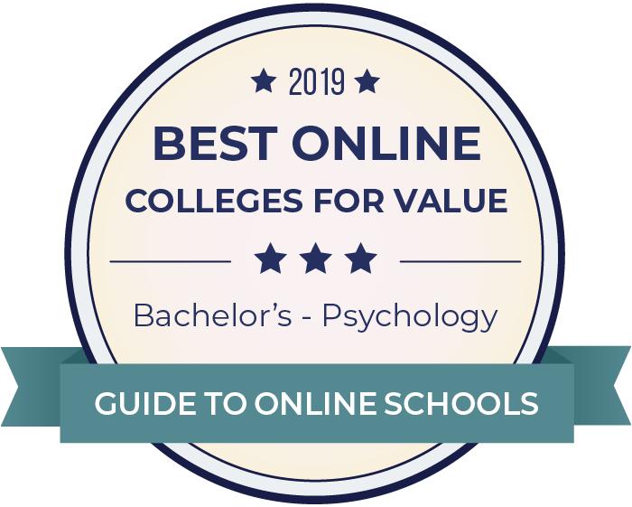 2019 Best Online Colleges Offering Bachelor's in Psychology Badge