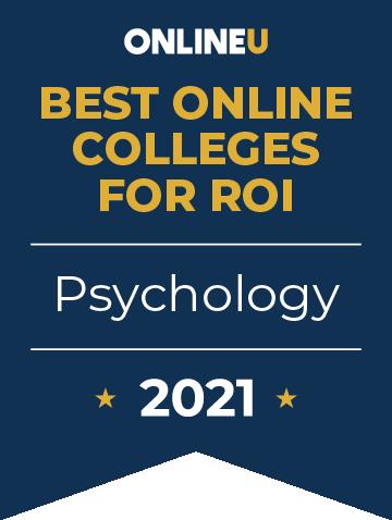 2021 Best Online Colleges Offering Bachelor's Degrees in Psychology Badge