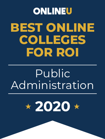 2020 Best Online Colleges Offering Bachelor's in Public Administration Badge