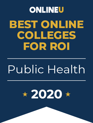 2020 Best Online Colleges Offering Bachelor's in Public Health Badge