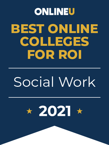 2021 Best Online Colleges Offering Bachelor's Degrees in Social Work Badge