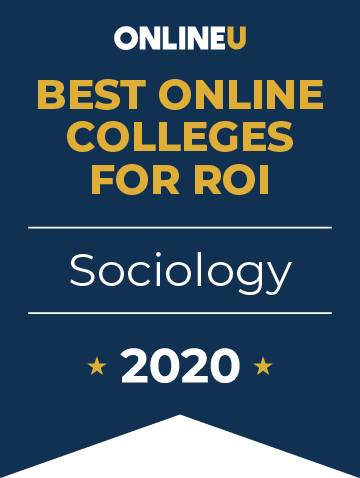 2020 Best Online Colleges Offering Bachelor's in Sociology Badge
