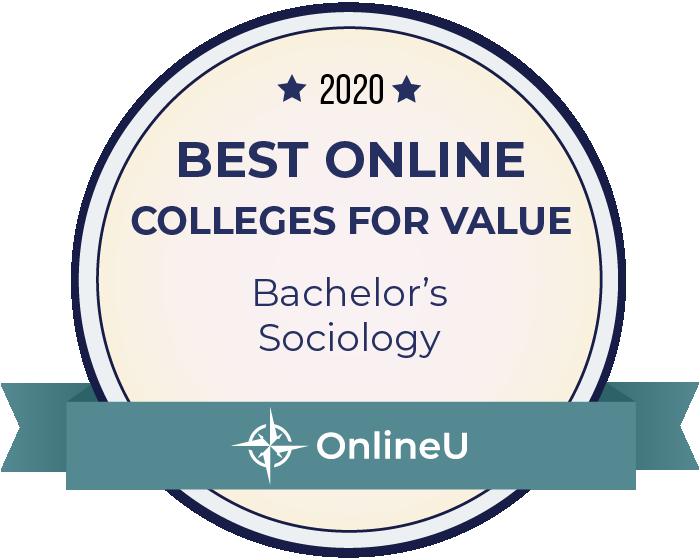 2020 Best Online Colleges Offering Bachelor's in Sociology Badge