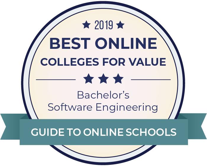 2019 Best Online Colleges Offering Bachelor's in Software Engineering Badge