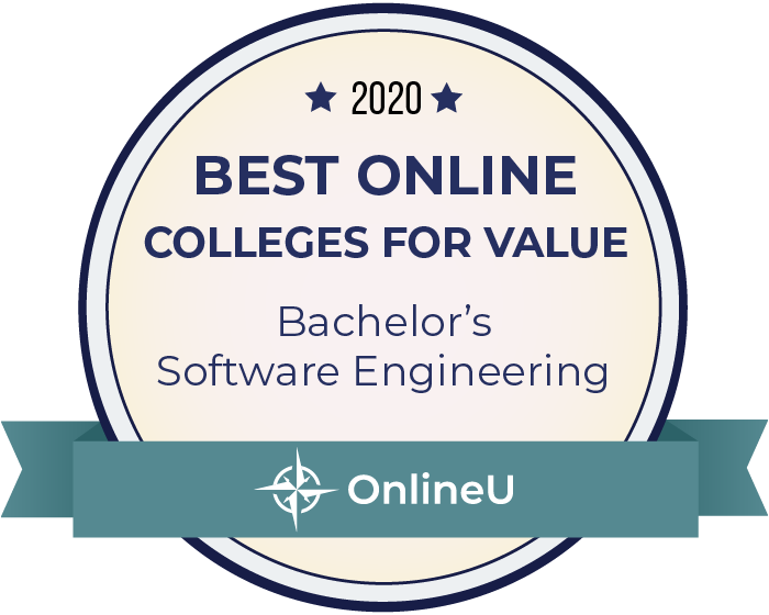2020 Best Online Colleges Offering Bachelor's in Software Engineering Badge