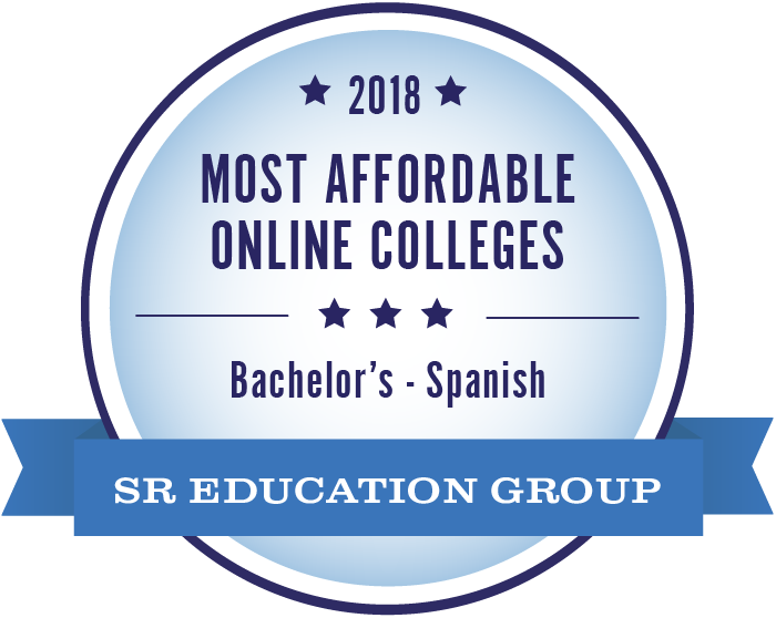 Spanish-Most Affordable Online Colleges-2018-Badge