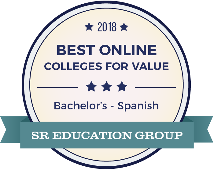 Spanish-Top Online Colleges-2018-Badge