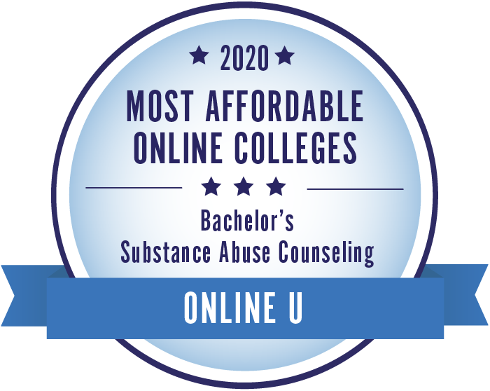2020 Most Affordable Substance Abuse Counseling Bachelors Degrees Badge