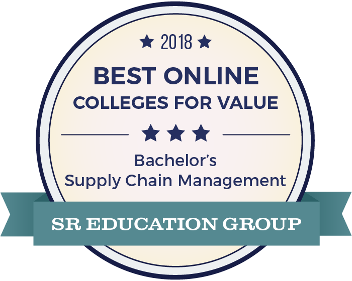 Supply Chain Management-Top Online Colleges-2018-Badge