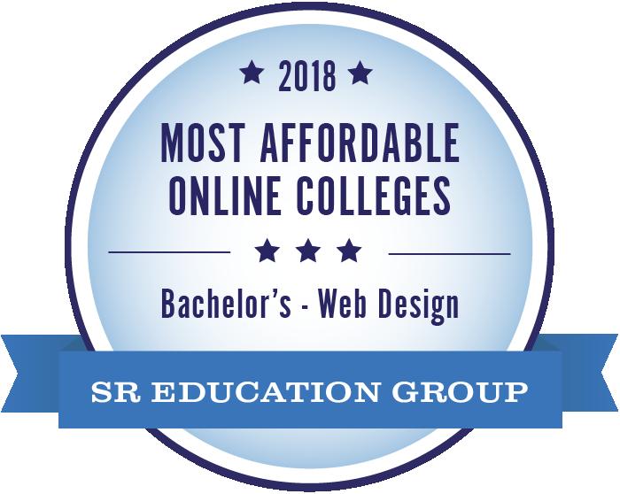Web Design-Most Affordable Online Colleges-2018-Badge