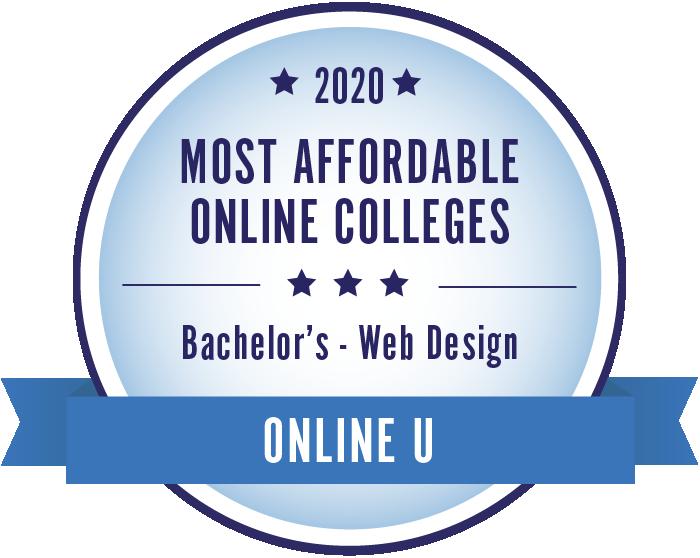 Web Design-Most Affordable Online Colleges-2019-Badge