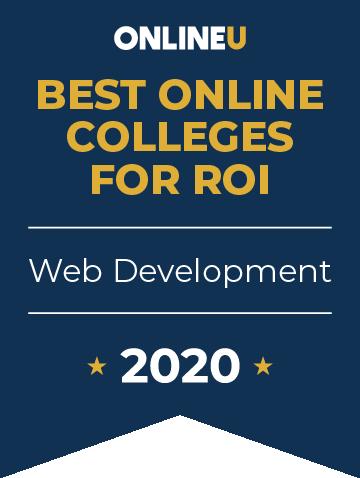 2020 Best Online Colleges Offering Bachelor's in Web Development Badge