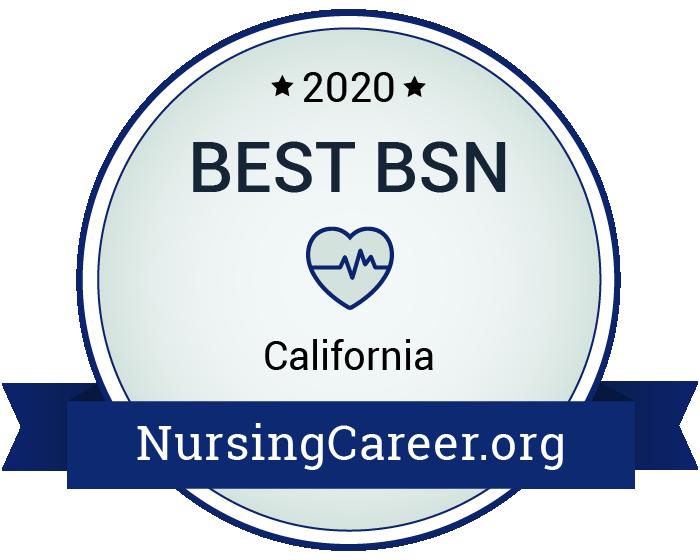 Best Nursing Bachelor's Degrees in California Badge