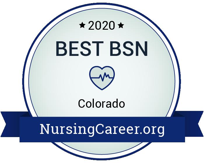 Best Nursing Bachelor's Degrees in Colorado Badge