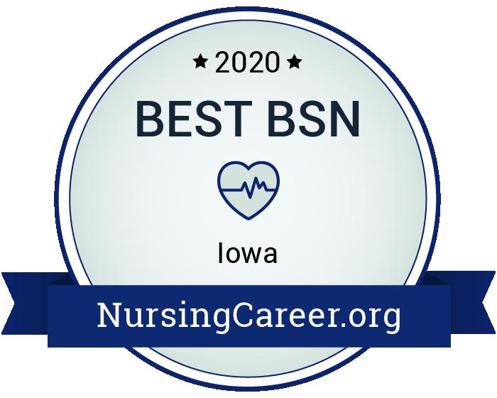 Best Nursing Bachelor's Degrees in Iowa Badge
