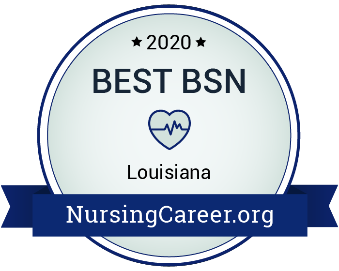 Best Nursing Bachelor's Degrees in Louisiana Badge