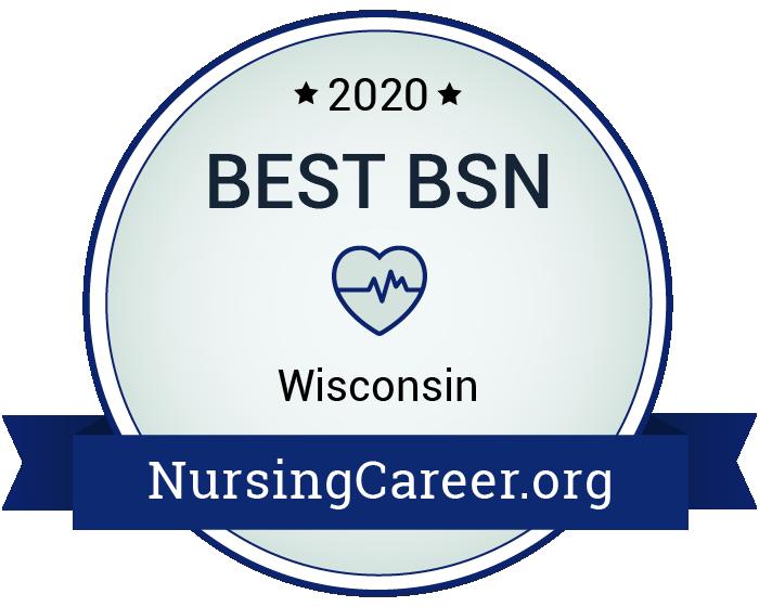 Best Nursing Bachelor's Degrees in Wisconsin Badge