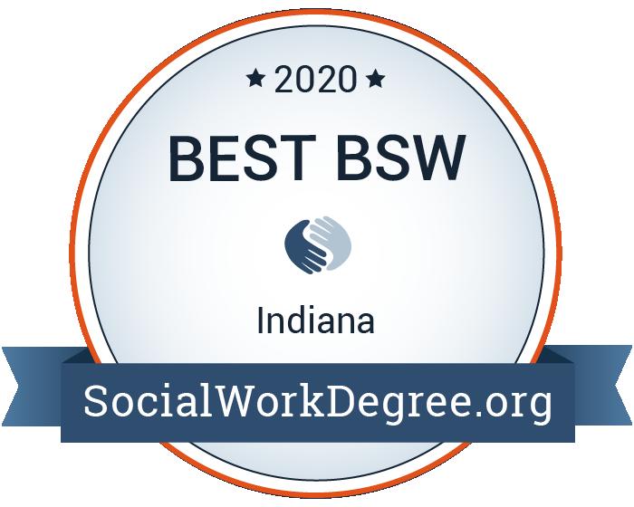 2020 Best Bachelor's Degrees of Social Work Programs in Indiana Badge