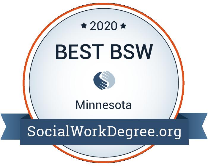 2020 Best Bachelor's Degrees of Social Work Programs in Minnesota Badge