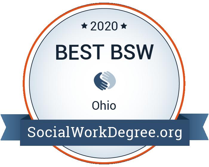 2020 Best Bachelor's Degrees of Social Work Programs in Ohio Badge