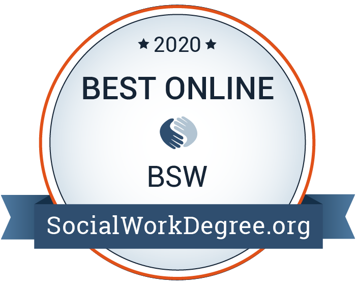 2020 Best Online BSW Programs Badge