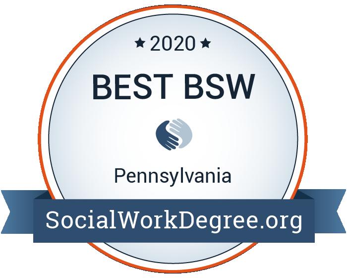 2020 Best Bachelor's Degrees of Social Work Programs in Pennsylvania Badge