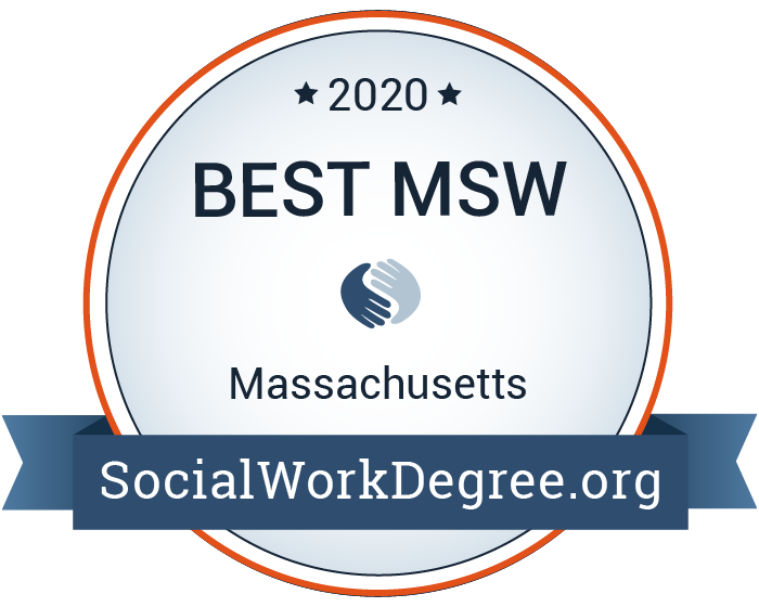 2020 Best MSW Programs in Massachusetts Badge
