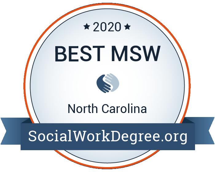 2020 Best MSW Programs in North Carolina Badge