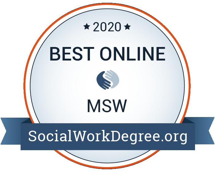 2020 Best Online MSW Programs Badge