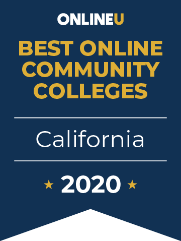 2020 Best Online Community Colleges in California Badge