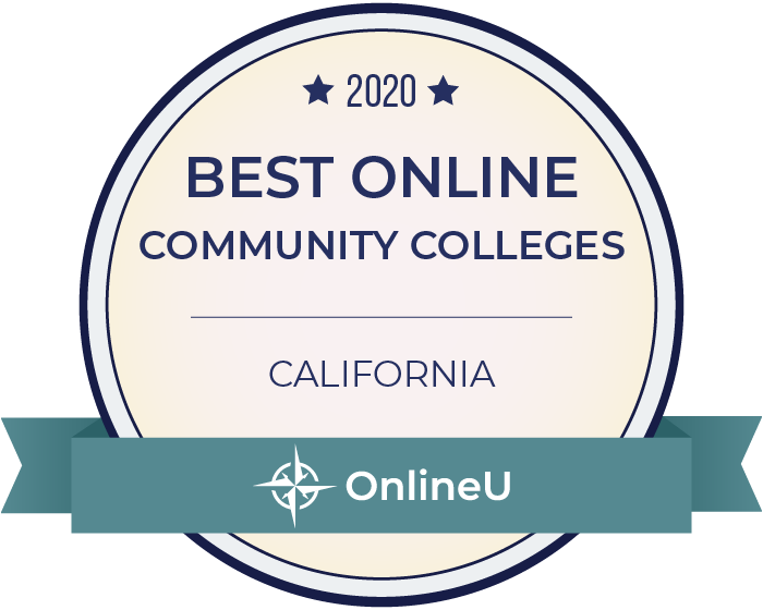 2020 Best Online Community Colleges in California Badge