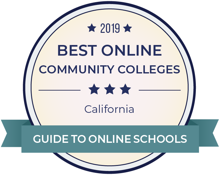 2019 Best Online Community Colleges in california Badge