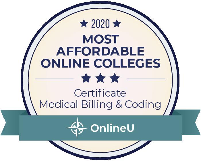 Medical Billing & Coding-Most Affordable Online Degrees-2020-Badge