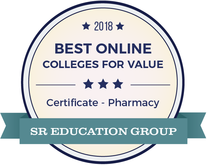 Pharmacy-Top Online Colleges-2018-Badge
