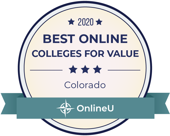 2020 Best Online Colleges in Colorado Badge
