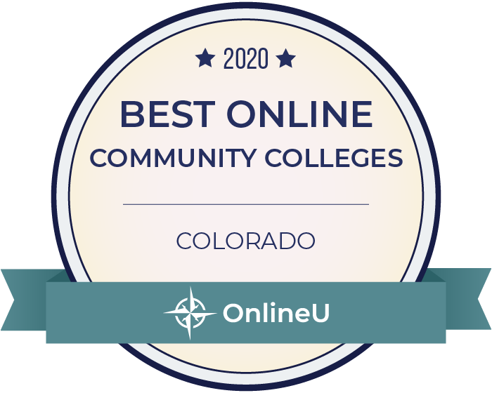 2020 Best Online Community Colleges in Colorado Badge