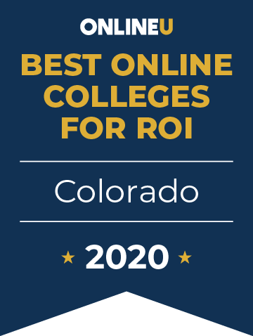 2020 Best Online Colleges in Colorado Badge