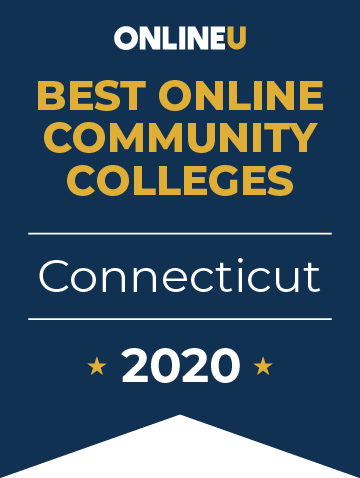 2020 Best Online Community Colleges in Connecticut Badge