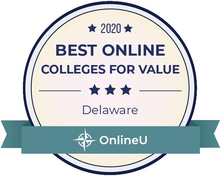 2020 Best Online Colleges in Delaware Badge